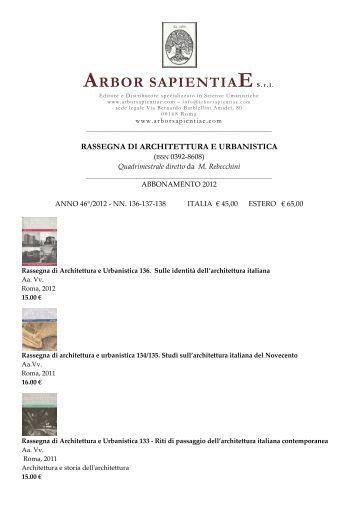 Rassegna di Architettura e Urbanistica - Arbor Sapientiae
