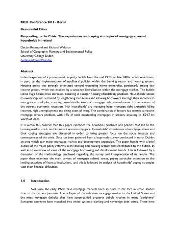 Critical Urban Theory and Neighbourhood Renewal Policy in the ...