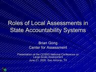 Roles of Local Assessments in State Accountability Systems