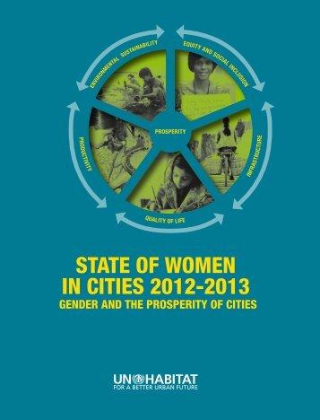 STATE OF WOMEN IN CITIES 2012-2013 - UN-Habitat