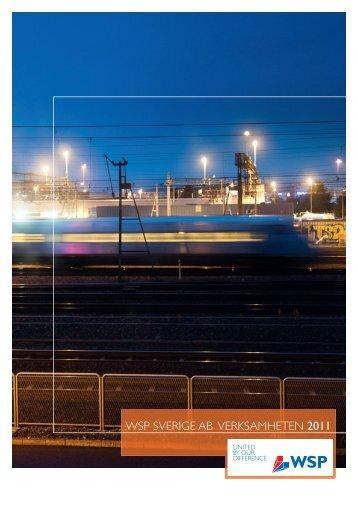 WSP SVERIGE AB VERKSAMHETEN 2011 - WSP Group