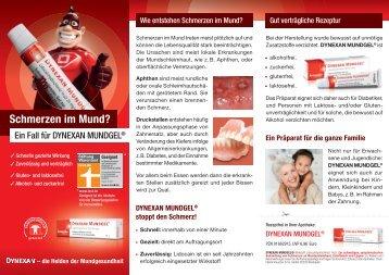 Schmerzen im Mund? - Kreussler Pharma GmbH