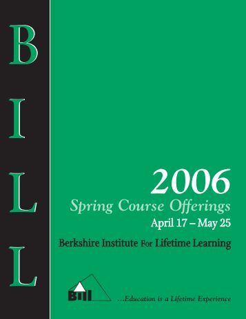 Spring Course Offerings - BerkshireOLLI.org
