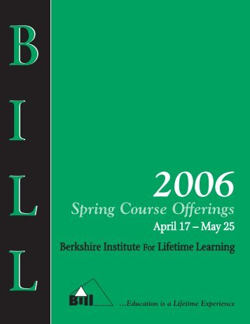 Spring Course Offerings - BerkshireOLLI.org