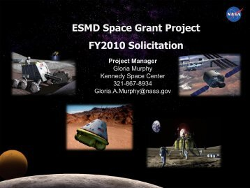 ESMD Space Grant Project FY2010 Solicitation - National Council of ...