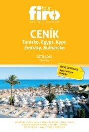 Tunisko, Egypt, Kypr, Emiráty, Bulharsko LÉTO 2013 - FIRO-tour, a.s.