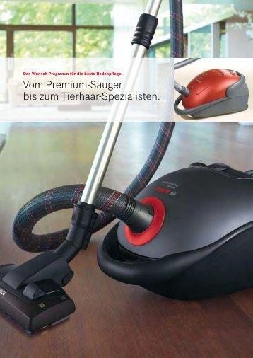 Vom Premium-Sauger bis zum Tierhaar ... - Bosch-home.com