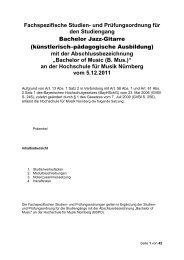 Jazz-Gitarre - Hochschule für Musik Nürnberg