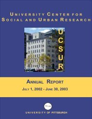 2002-2003: Annual Report - University Center for Social and Urban ...
