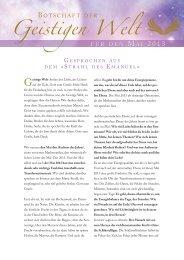 Botschaft der Geistigen Welt für März 2013 - Robert Betz