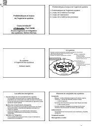 J.P. Meinadier Cours introductif, Enjeux de l'ingénierie Système ...