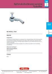 Siphon de douche avec surverse Turboflow Nicoll - BigMat