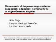 Zintegrowany system gospodarki odpadami w woj. śląskim