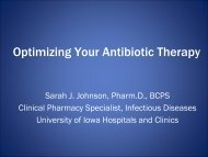Optimizing Your Antimicrobial Therapy