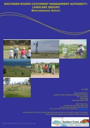landcare groups - Southern Rivers Catchment Management Authority