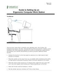 Guide to Setting Up an Ergonomic Computer Work Station - Oswego