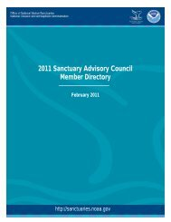 2011 Sanctuary Advisory Council Member Directory