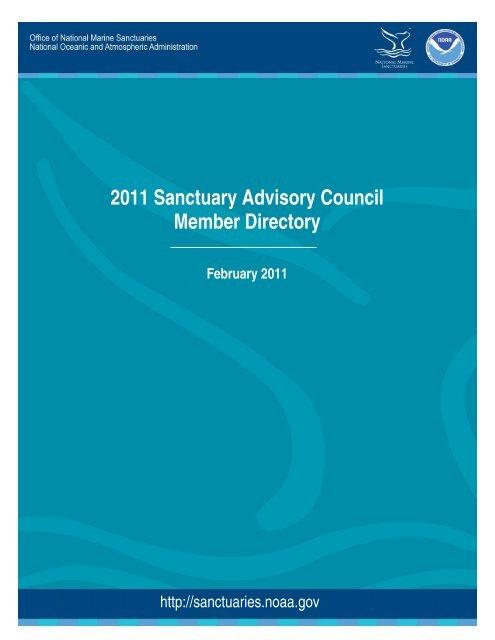 2011 Sanctuary Advisory Council Member Directory