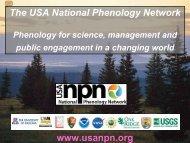Major accomplishments - USA National Phenology Network