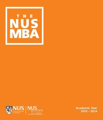 Academic Year 2013 – 2014 - NUS Business School - National ...