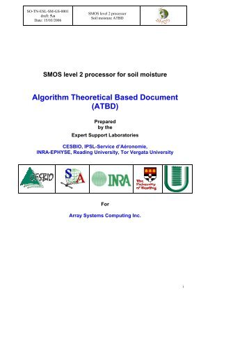 Algorithm Theoretical Based Document (ATBD) - Cesbio