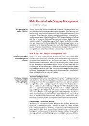 Mehr Umsatz durch Category Management - Dr. Wolfgang Huge