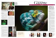 Harvard University Gazette October 2-8, 2008 - Harvard News Office ...