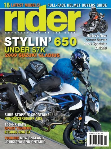 Rider magazine product review of the SHOEI RF-1000 helmet.