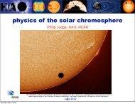 Physics of the Solar Chromosphere - VSP | UCAR Visiting Scientist ...