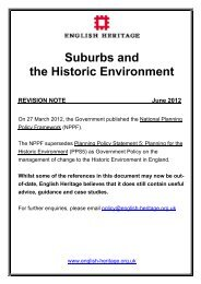 Suburbs and the Historic Environment REVISION NOTE ... - HELM