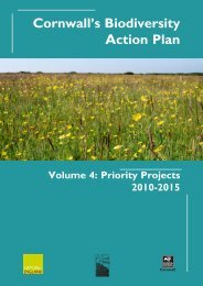 Cornwall's Biodiversity Action Plan - Cornwall Wildlife Trust