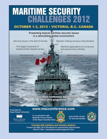 MARITIME SECURITY CHALLENGES 2012 - Canadian Naval Review