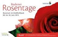 Rosarium im Doblhoffpark 08. bis 30. Juni 2013 - Baden