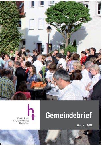Gemeindebrief Weihnachten 2010 - Evangelische Kirchengemeinde ...