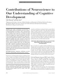 Contributions of Neuroscience to Our Understanding of Cognitive ...