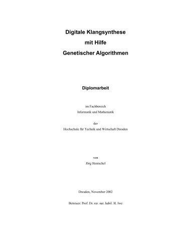 Digitale Klangsynthese mit Hilfe Genetischer Algorithmen