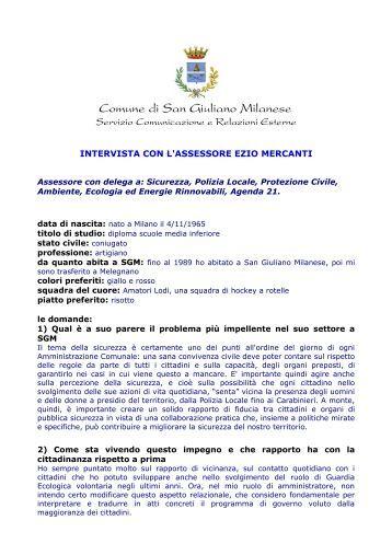 Nella citt di san giuliano milanese introduzione for Corbetta arredamenti san giuliano milanese