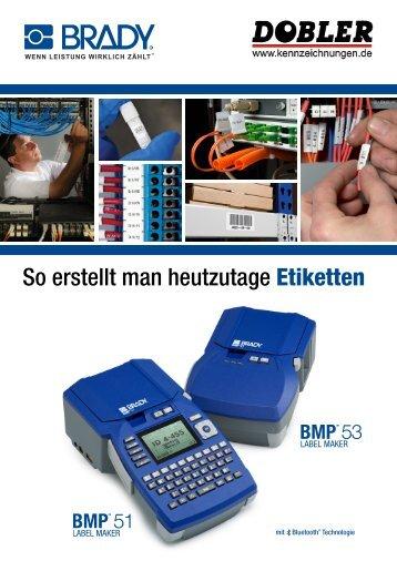 Brady tragbare Etikettendrucker BMP51 und BMP53 - Dobler GmbH ...