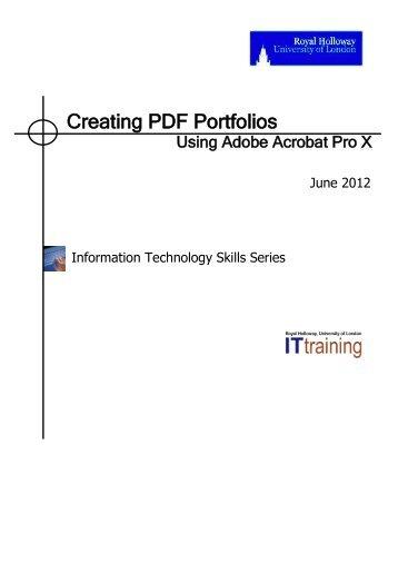 Creating Adobe PDF Portfolios