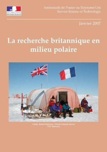 La recherche britannique en milieu polaire - France in the United ...