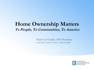 Home Ownership Matters - Mississippi Association of REALTORS