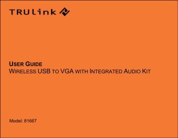 user guide wireless usb to vga with integrated audio kit - C2G