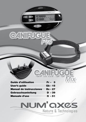 Guide d'utilisation Fr - 3 User's guide Gb - 15 Manual de ... - Num'Axes