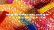Designing Professional Learning for Teachers and Staff, Holly ...