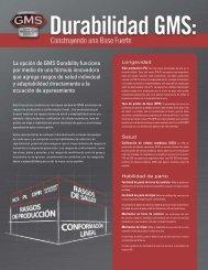 La opción de GMS Durability funciona por medio ... - ABS Global, Inc.