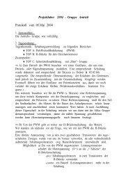 Projektlabor 2004 – Gruppe Antrieb Protokoll vom 05.Mai 2004