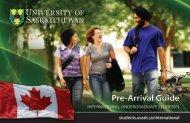 Pre-Arrival Guide - Students - University of Saskatchewan