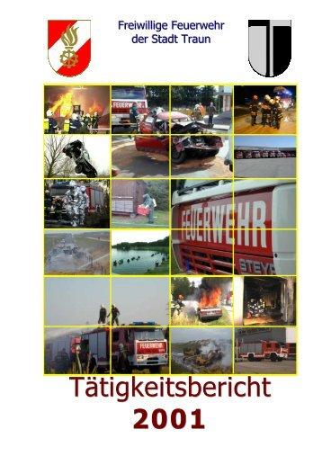Tätigkeitsbericht 2001 - FF Traun