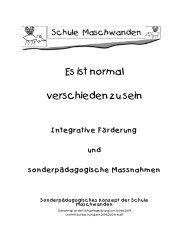 Das sonderpädagogische Konzept der Schule Maschwanden [pdf]