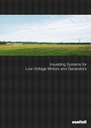 Insulating Systems for Low-Voltage Motors and Generators - Von Roll